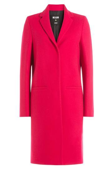 Msgm Msgm Wool Coat - Pink