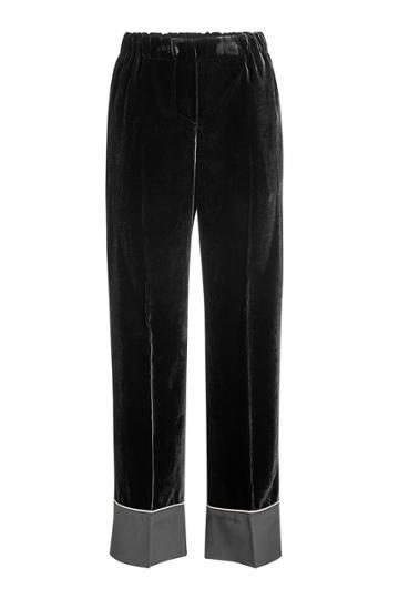 N 21 N°21 Velvet Pants With Silk
