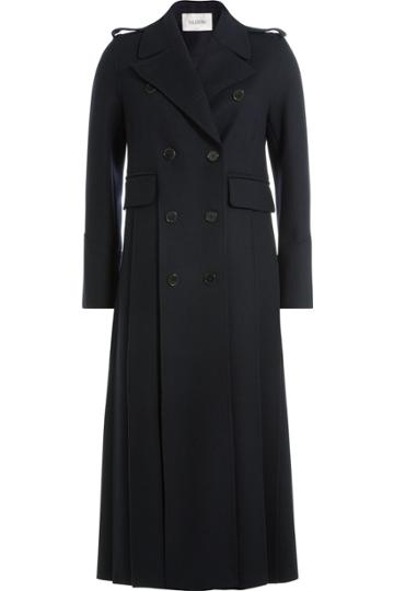 Valentino Valentino Wool Long Coat - Blue