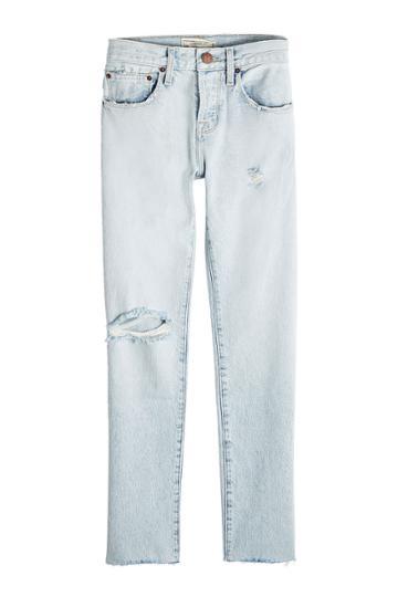 Current/elliott Current/elliott Straight Distressed Jeans