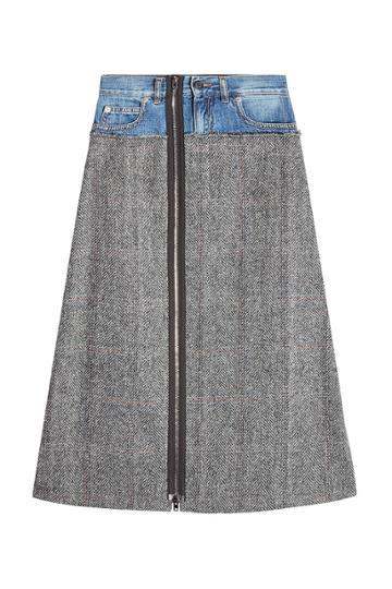 Maison Margiela Maison Margiela Wool Skirt With Denim Waistband