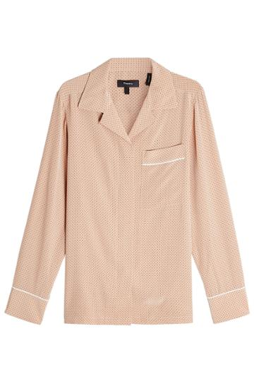 Theory Theory Spotted Silk Blouse