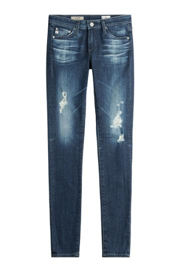 Adriano Goldschmied Adriano Goldschmied Cotton-jersey Distressed Skinny Jeans