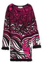 Emilio Pucci Emilio Pucci Intarsia Dress With Fringed Trim