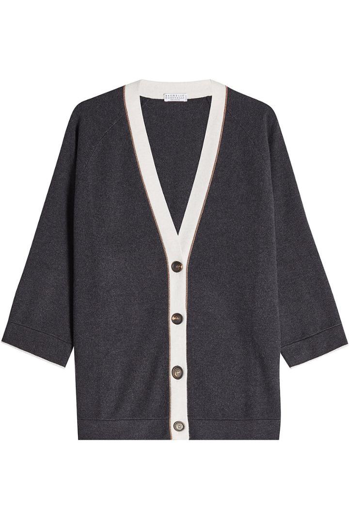Brunello Cucinelli Brunello Cucinelli Cardigan In Wool, Cashmere And Silk