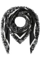 Mcq Alexander Mcqueen Mcq Alexander Mcqueen Printed Scarf With Cotton - Grey