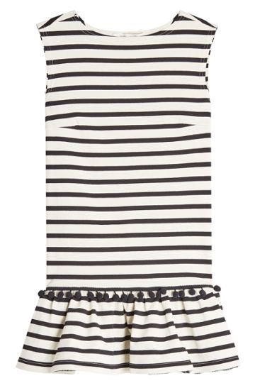 Marc Jacobs Marc Jacobs Striped Pom Pom Dress