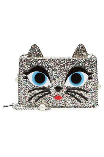 Karl Lagerfeld Karl Lagerfeld Choupette Mini Box Clutch With Chain Strap