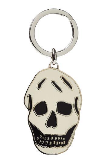 Alexander Mcqueen Alexander Mcqueen Skull Keychain - White