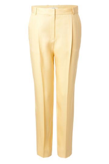 Céline Céline Silk Pants - Yellow