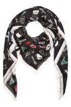 Karl Lagerfeld Karl Lagerfeld Printed Scarf With Cashmere