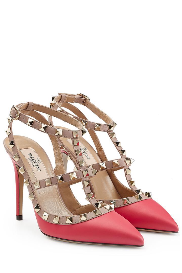 Valentino Valentino Rockstud Leather Pumps - Pink