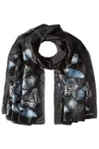 Alexander Mcqueen Alexander Mcqueen Butterfly Embroidered Scarf With Silk - Multicolor