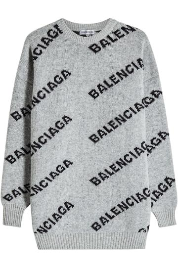 Balenciaga Balenciaga Jacquard Logo Pullover With Virgin Wool