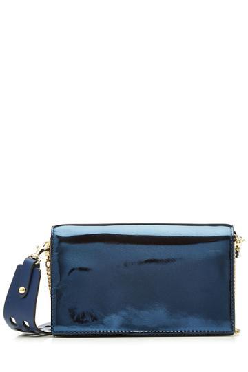 Diane Von Furstenberg Diane Von Furstenberg Soiree Metallic Leather Crossbody Bag