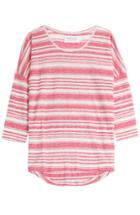 Velvet Striped Linen Top