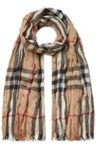 Burberry Shoes & Accessories Wool-cashmere Giant Check Crinkle Scarf