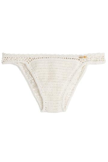 She Made Me She Made Me Crochet Bikini Bottoms - Beige