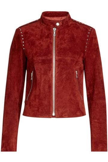 Theory Theory Embellished Suede Jacket