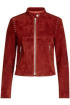 Theory Theory Embellished Suede Jacket