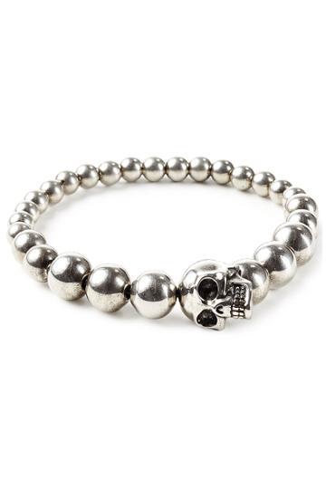Alexander Mcqueen Alexander Mcqueen Skull Bracelet - Silver