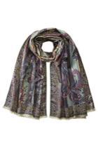 Etro Etro Printed Silk-wool Scarf - Multicolored
