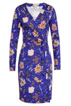 Diane Von Furstenberg Diane Von Furstenberg Silk Floral Wrap Dress