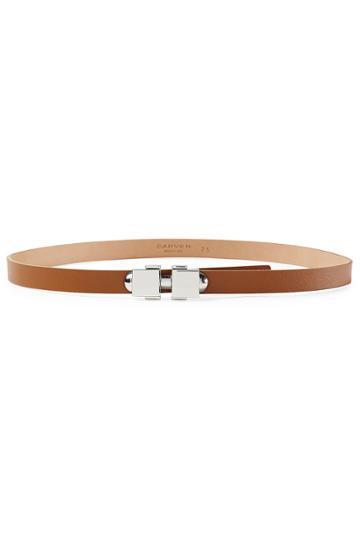 Carven Carven Leather Belt - Brown