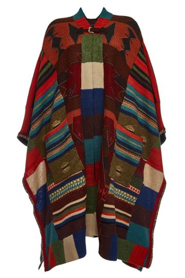 Etro Etro Knit Poncho With Wool, Cashmere, Mohair And Silk