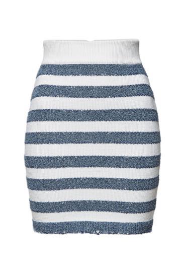 Balmain Balmain Striped Mini Skirt With Sequins