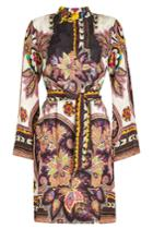 Etro Etro Printed Shirt Dress With Silk