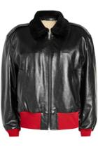 Calvin Klein 205w39nyc Calvin Klein 205w39nyc Leather Jacket With Shearling Collar And Lining