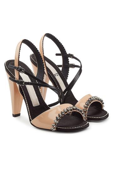 N 21 N°21 Embellished Patent Leather Sandals
