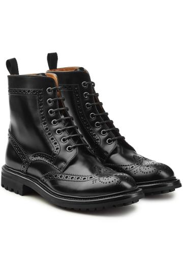 Church's Church's Angelina Leather Ankle Boots With Brogue Detailing