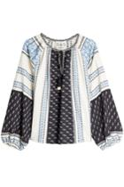 Sea Sea Printed Cotton Blouse With Linen