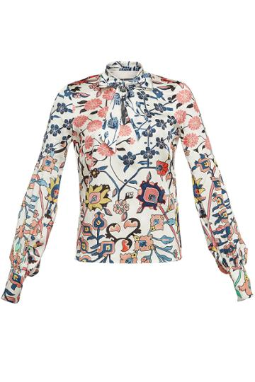 Peter Pilotto Peter Pilotto Printed Silk Blouse With Self-tie Bow