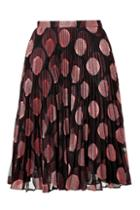 Marco De Vincenzo Embroidered Polka Dot Pleated Skirt