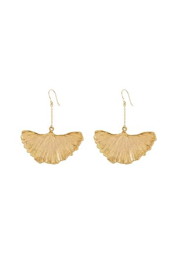 Aurélie Bidermann Fine Jewelry Aurélie Bidermann Fine Jewelry 18kt Gold Plated Gingkoblatt Earrings