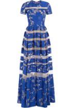 Elie Saab Elie Saab Striped Lace Gown