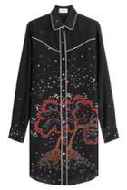 Valentino Valentino Printed Silk Tunic Blouse - Multicolor