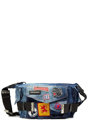 Dsquared2 Dsquared2 Denim Shoulder Bag With Patches
