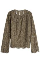 Diane Von Furstenberg Diane Von Furstenberg Lace Top With Cotton - Green