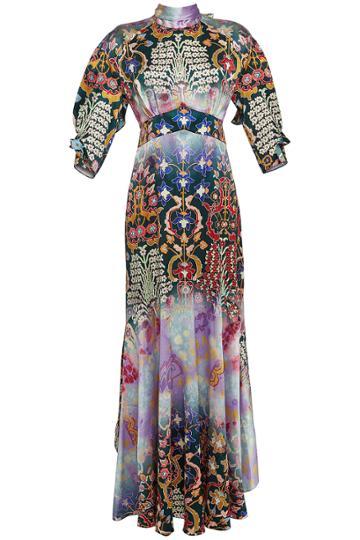 Peter Pilotto Peter Pilotto Printed Silk Evening Gown