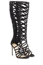 Tamara Mellon Tamara Mellon Suede Cutout Sandals - Black