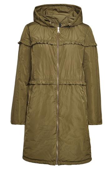 Moncler Moncler Luxembourg Down Coat With Ruffles