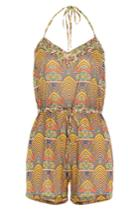 Paolita Paolita Printed Playsuit - None