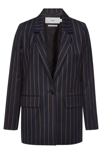 Closed Closed Cox Striped Blazer With Virgin Wool