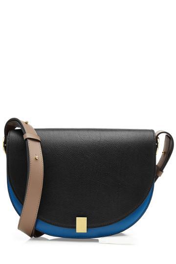 Victoria Beckham Victoria Beckham Half Moon Box Leather Soulder Bag