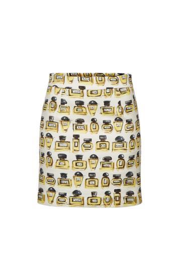 Boutique Moschino Boutique Moschino Printed Cotton Skirt