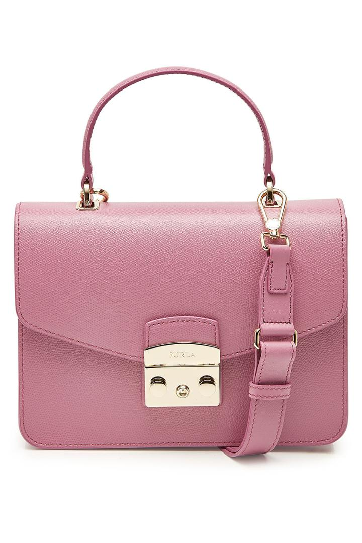 Furla Furla Metropolis S Leather Top Handle Satchel